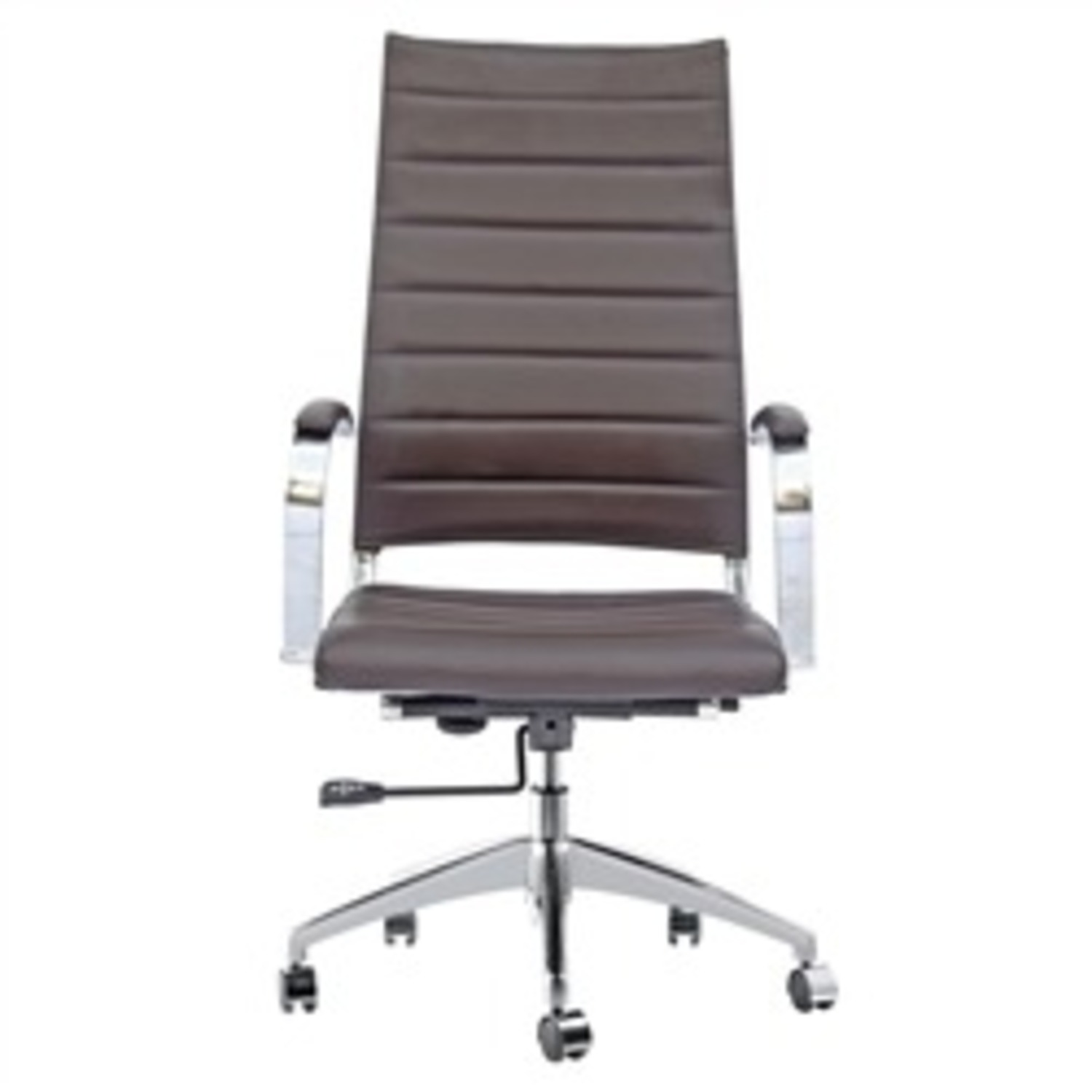 Office Chair W/ High Back Seat In Dark Brown - image-1