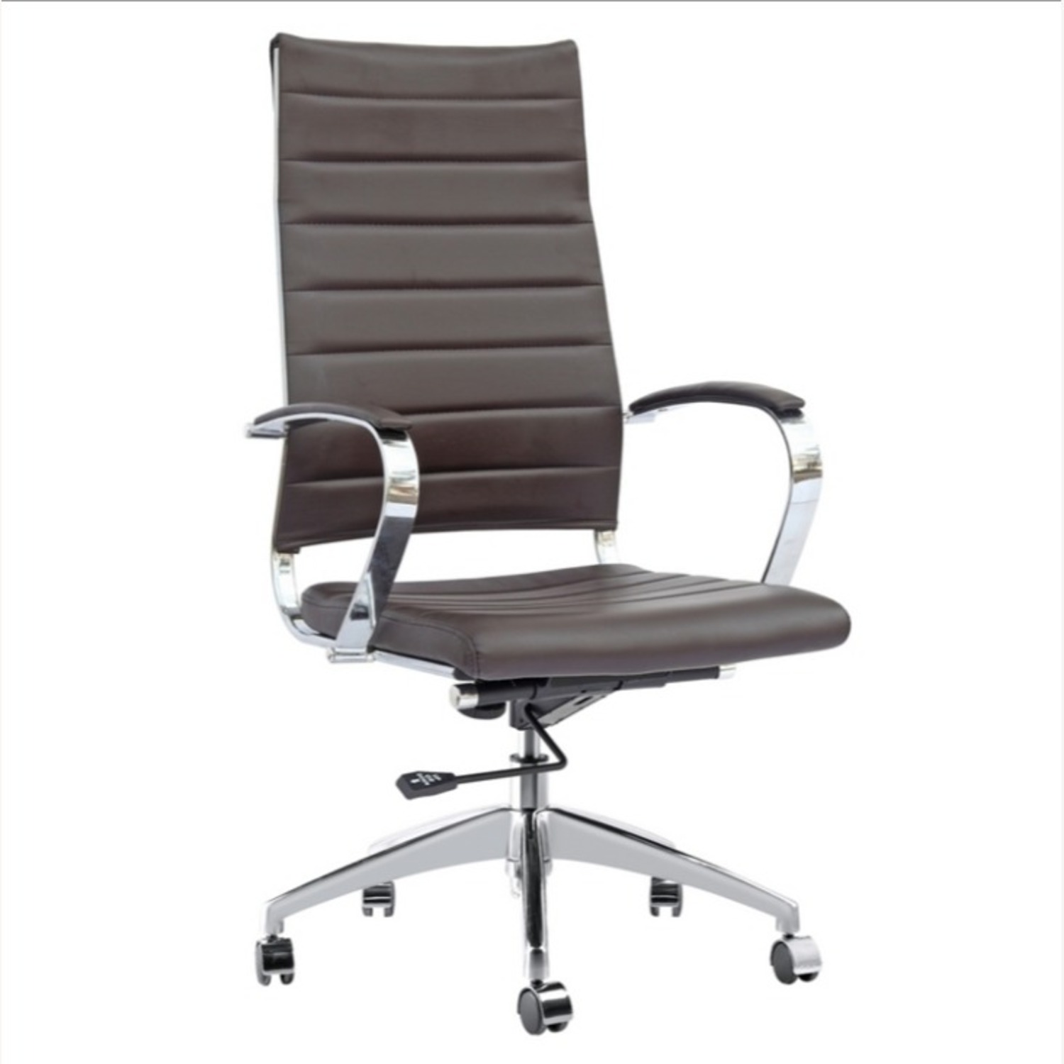 Office Chair W/ High Back Seat In Dark Brown - image-0