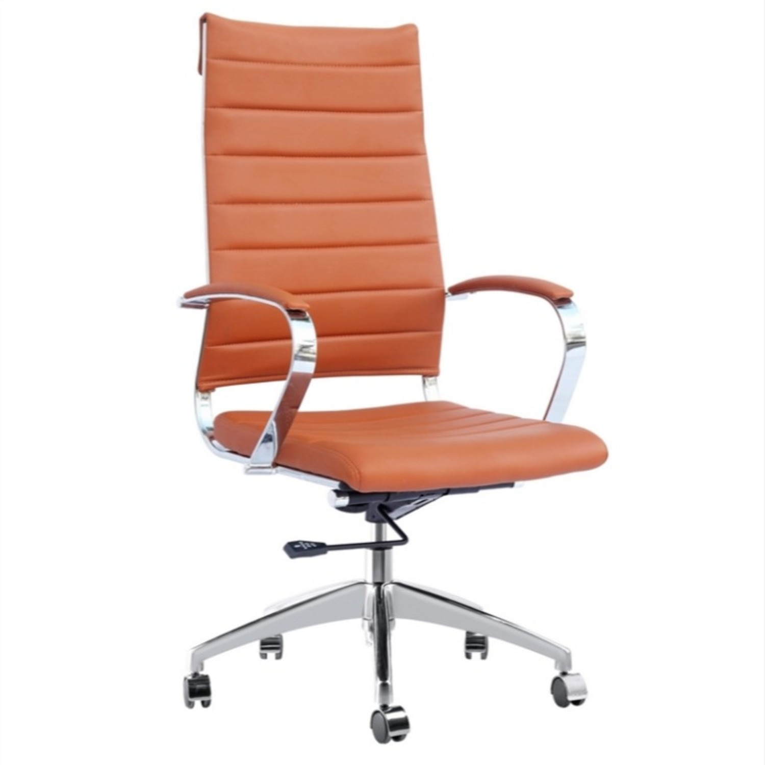 Office Chair W/ High Back Seat In Light Brown - image-0