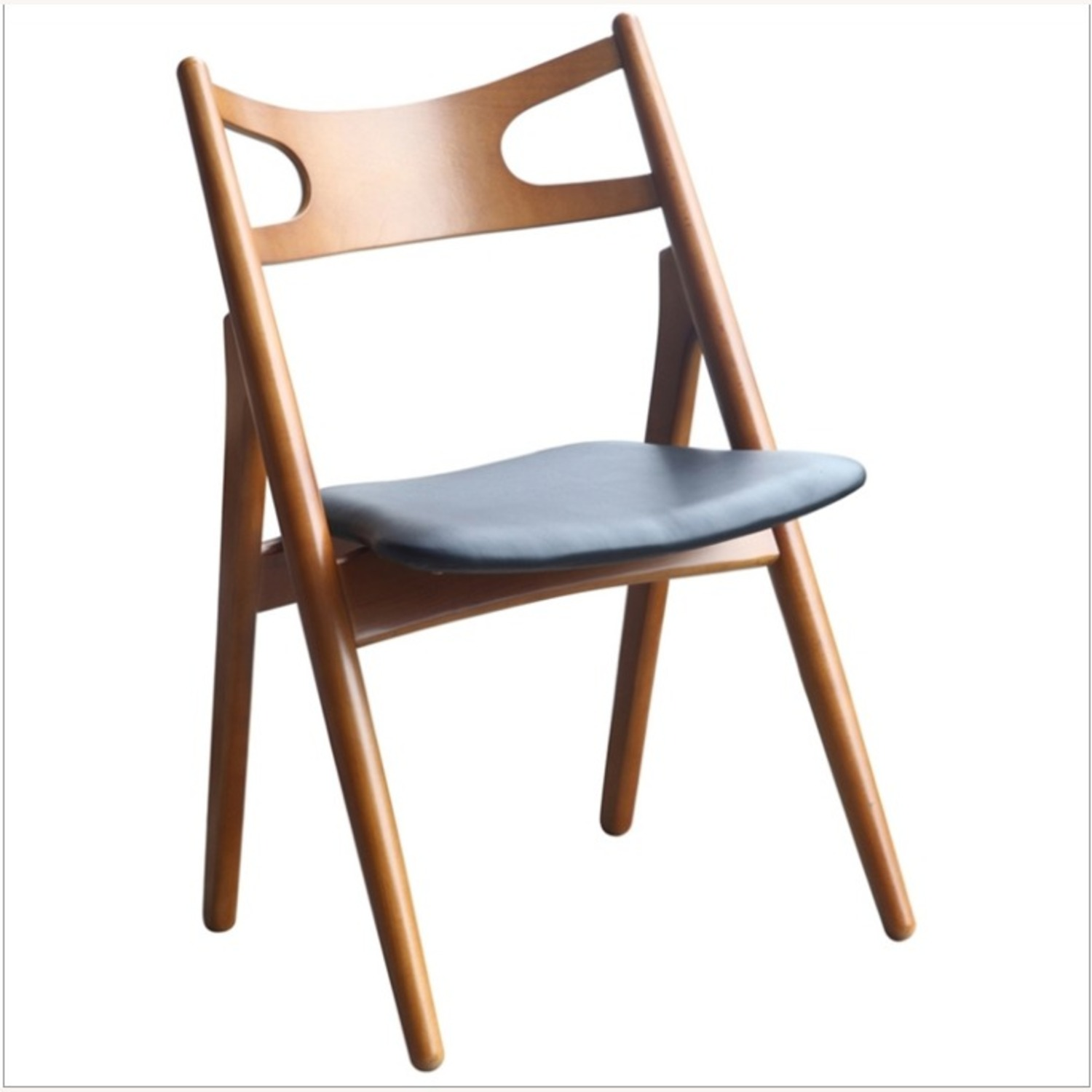 Modern Dining Chair In Walnut Wood Frame - image-0