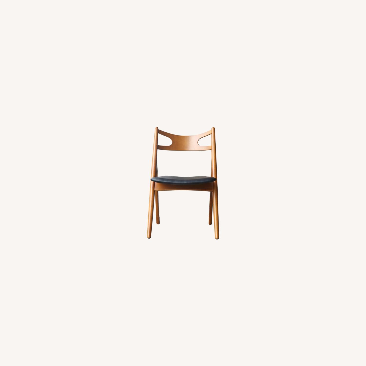 Modern Dining Chair In Walnut Wood Frame - image-6