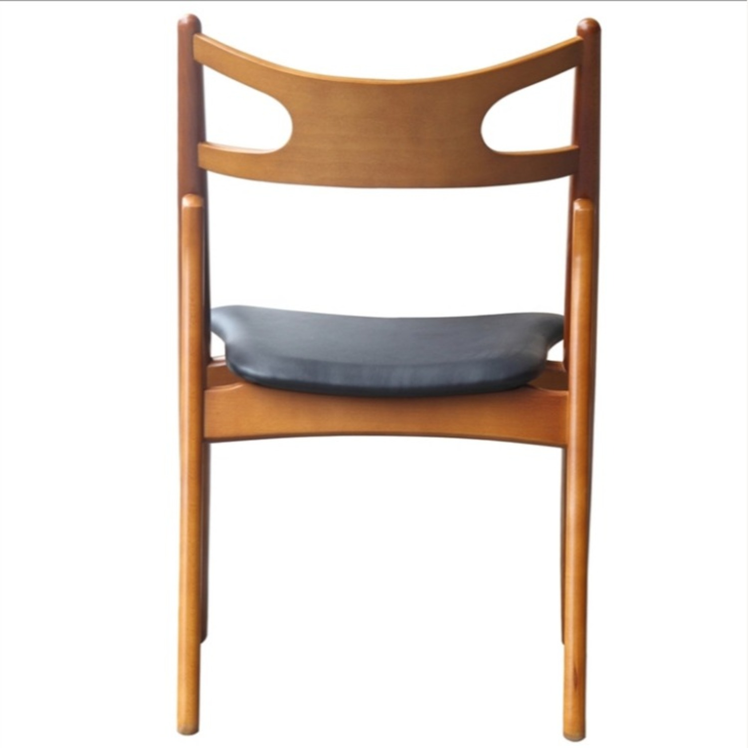 Modern Dining Chair In Walnut Wood Frame - image-4