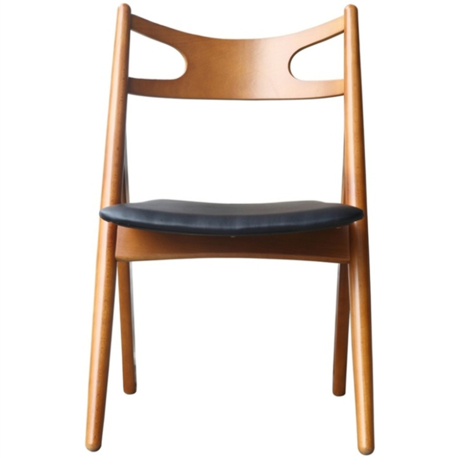 Modern Dining Chair In Walnut Wood Frame - image-1