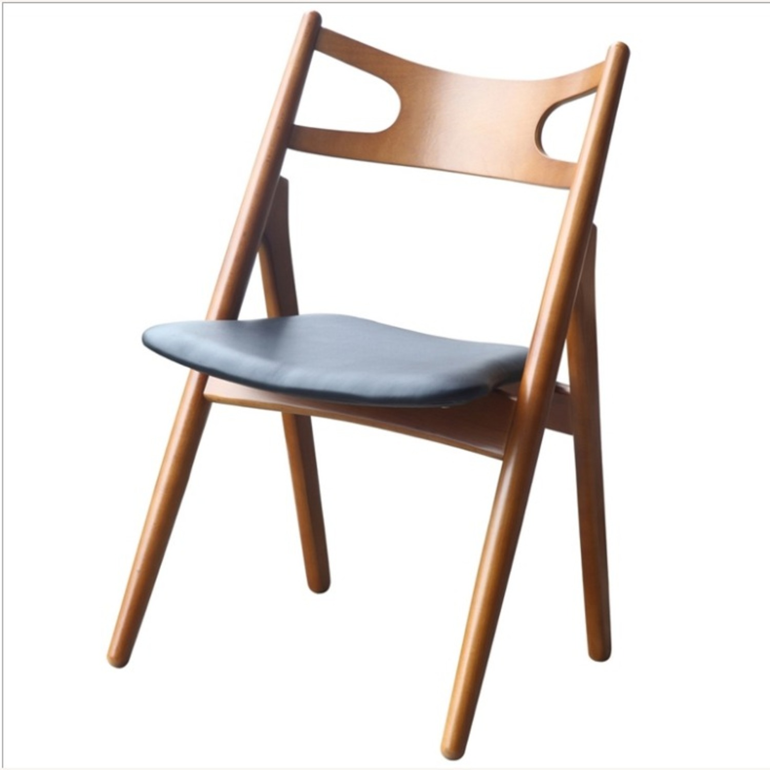 Modern Dining Chair In Walnut Wood Frame - image-2