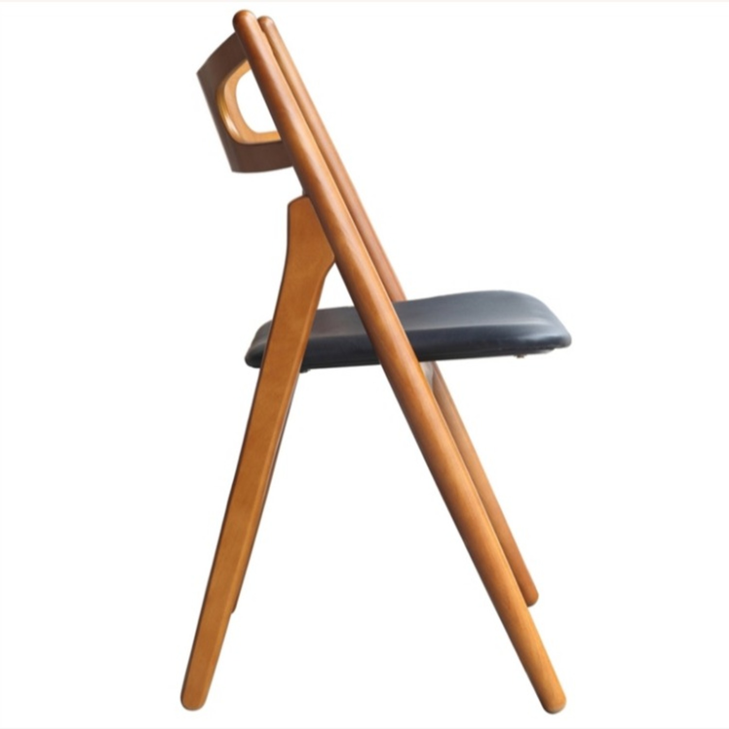 Modern Dining Chair In Walnut Wood Frame - image-3