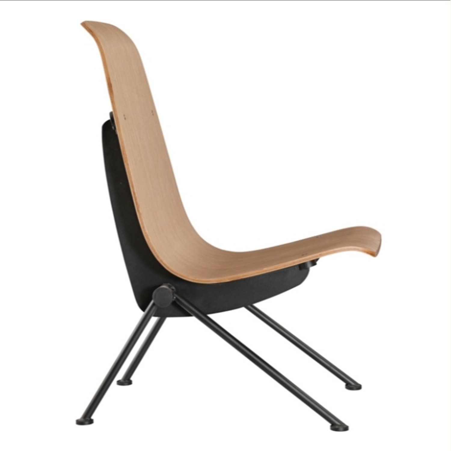Contemporary Side Chair Crafted In Natural Plywood - image-1