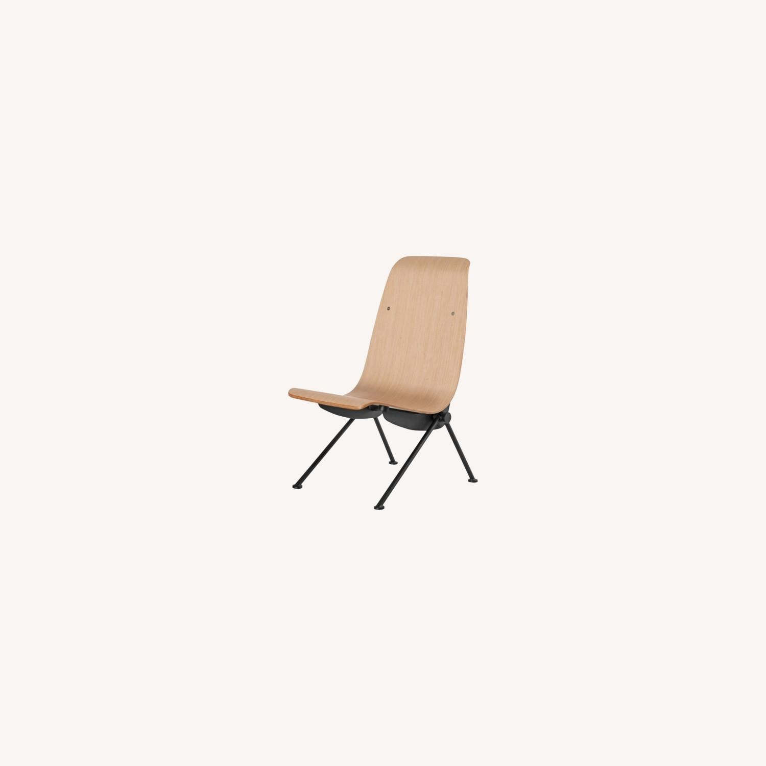 Contemporary Side Chair Crafted In Natural Plywood - image-4