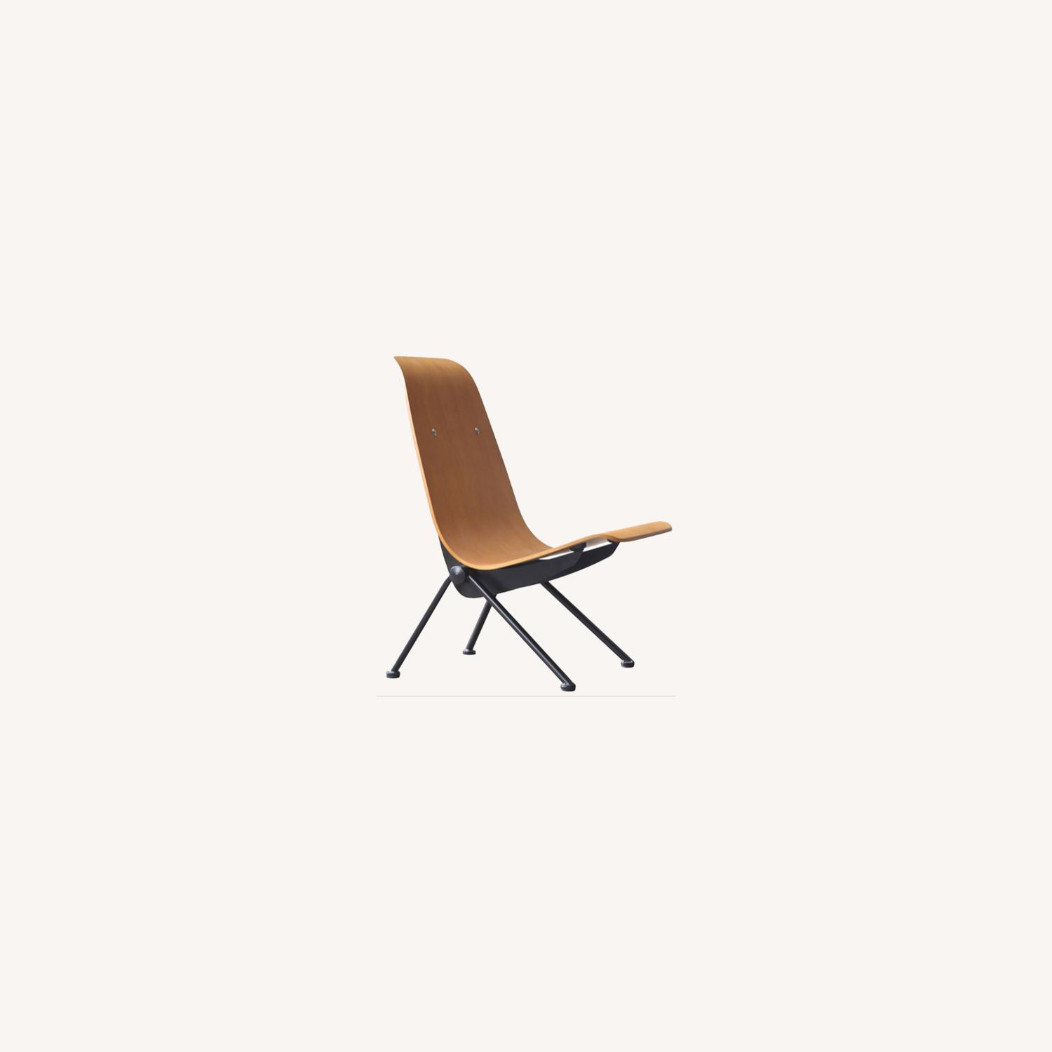 Contemporary Side Chair Crafted In Walnut Plywood - image-4