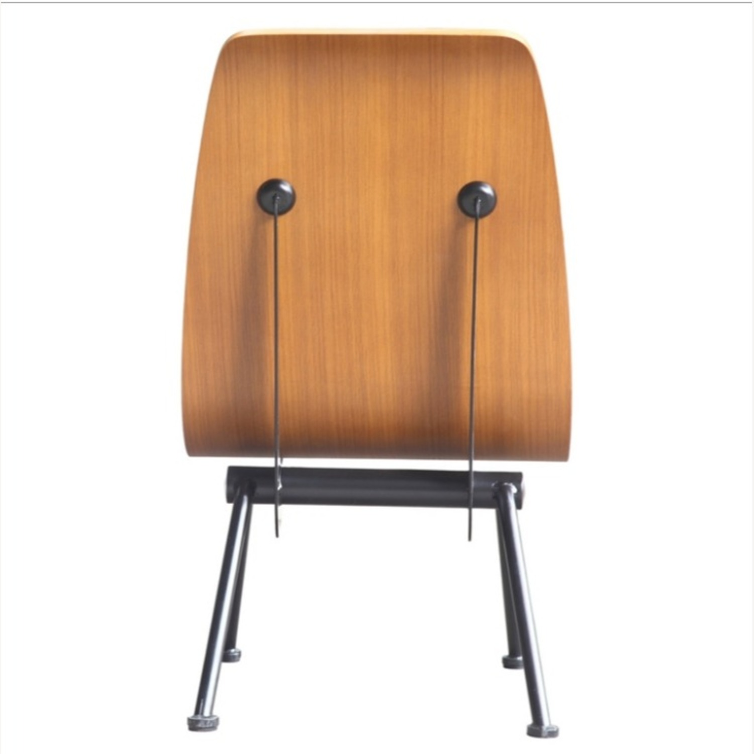 Contemporary Side Chair Crafted In Walnut Plywood - image-3