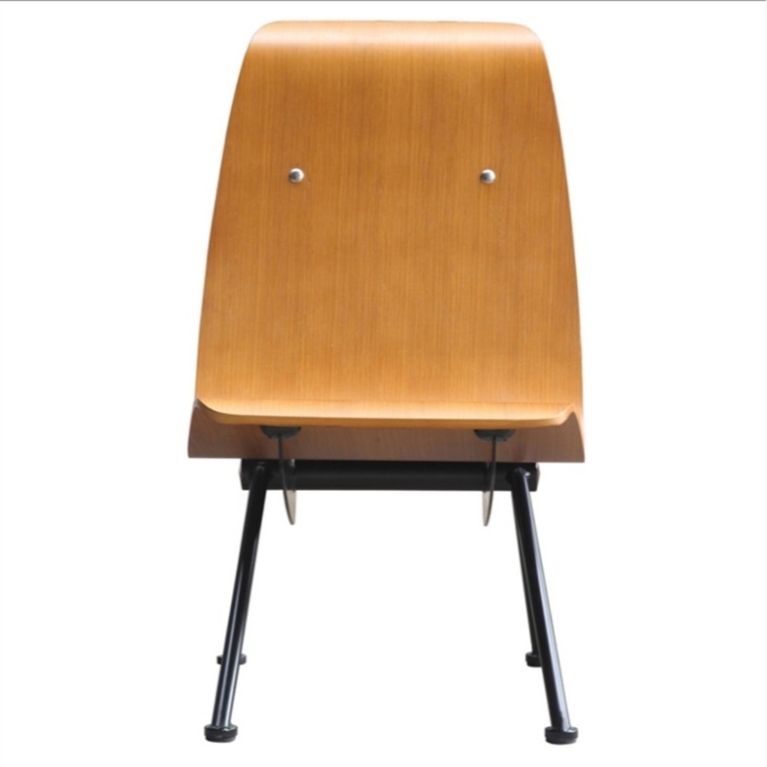 Contemporary Side Chair Crafted In Walnut Plywood - image-1