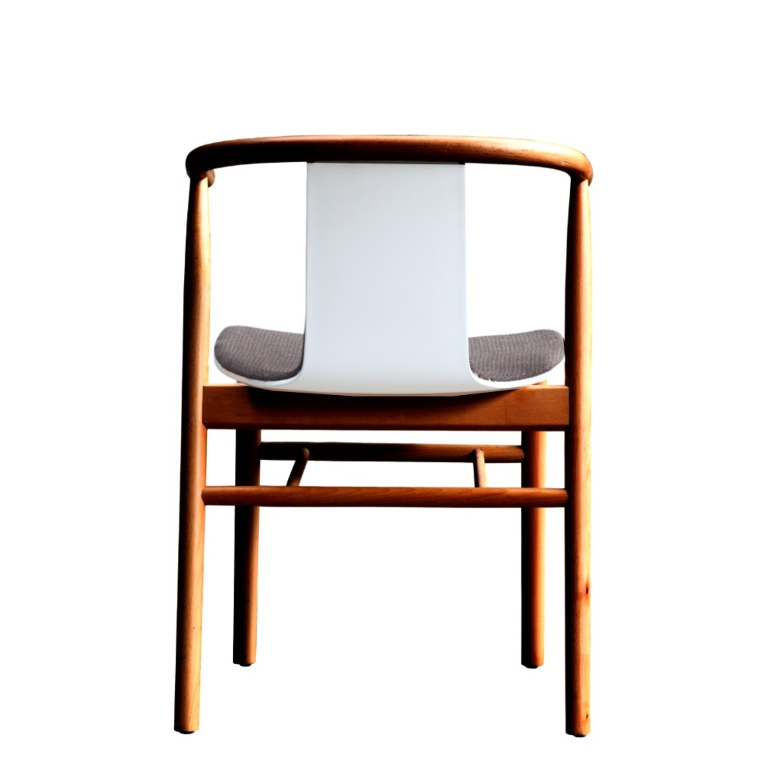 Side Chair In Walnut Wood Frame W/ Cotton Seat - image-2