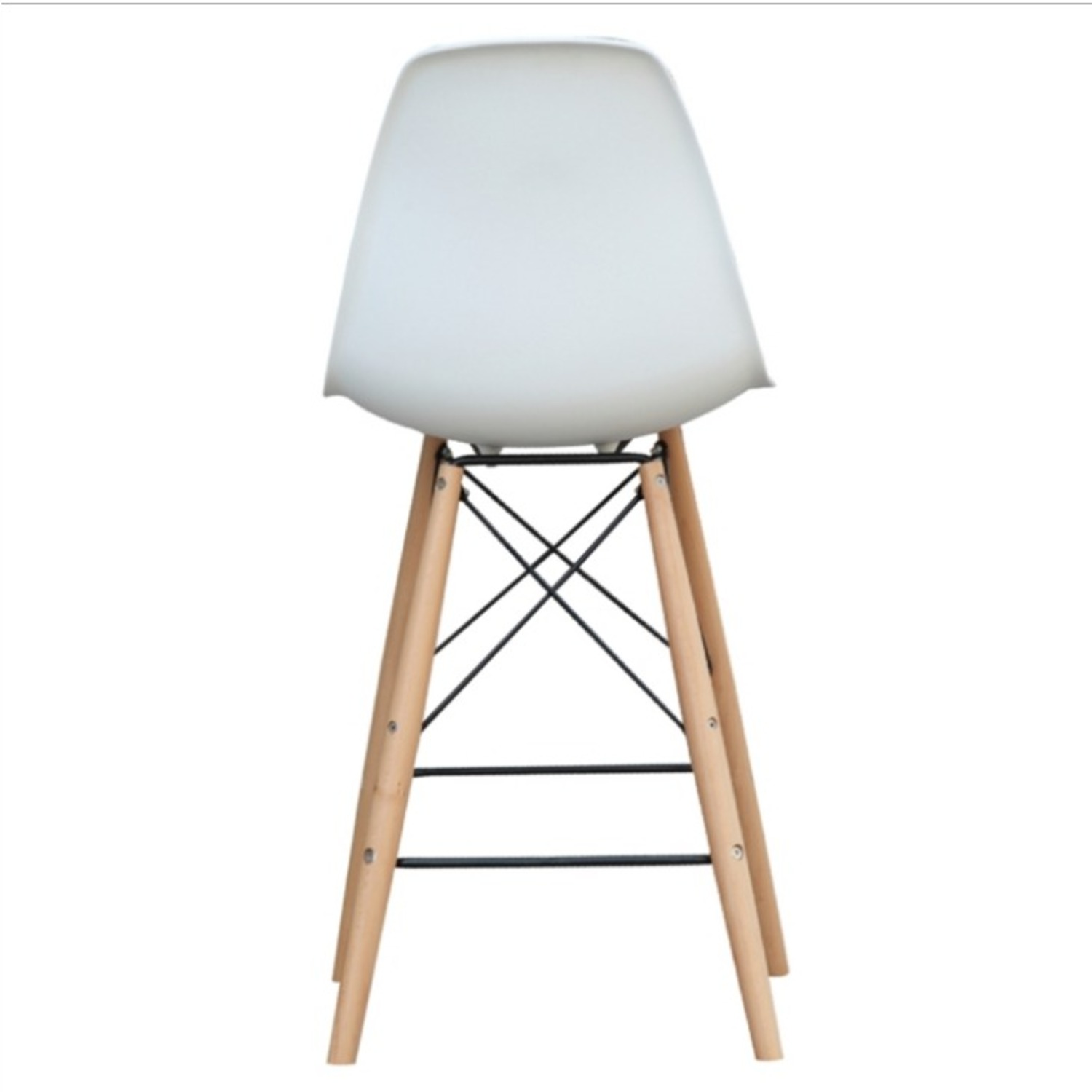 Counter Chair In White ABS Seat W/ Square Base - image-2
