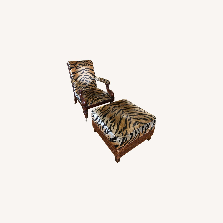 Ralph Lauren Chair and Ottoman - image-0