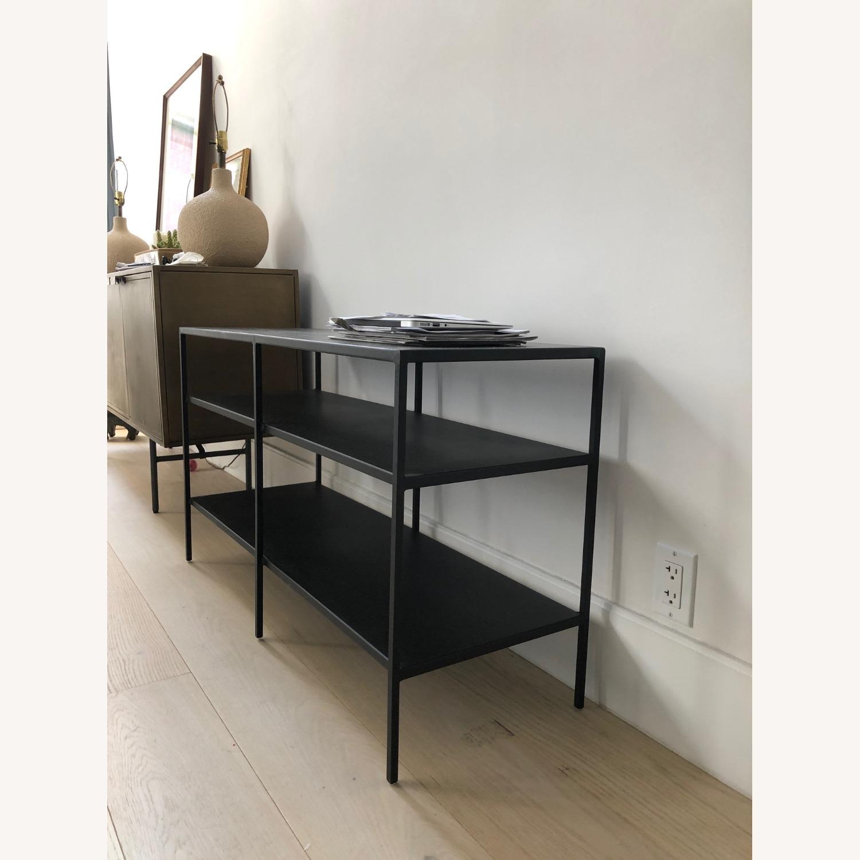 Room & Board Slim Media Console in Black Steel - image-2