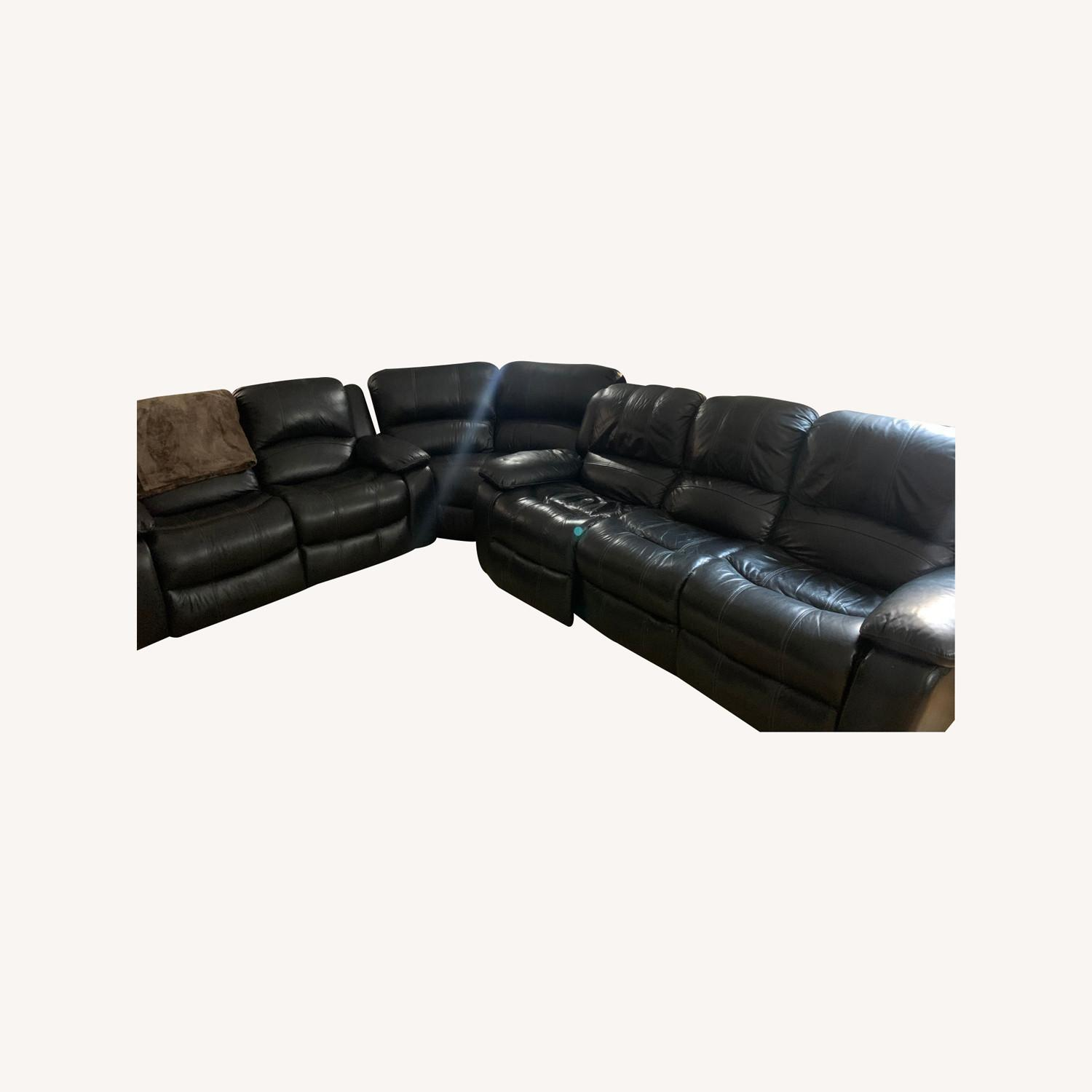 Raymour & Flanigan 3-piece Couch Set - image-0