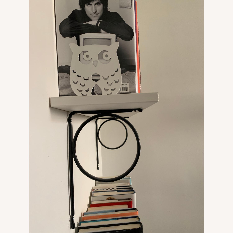 IKEA White Bookshelves with Black Hardware - image-3