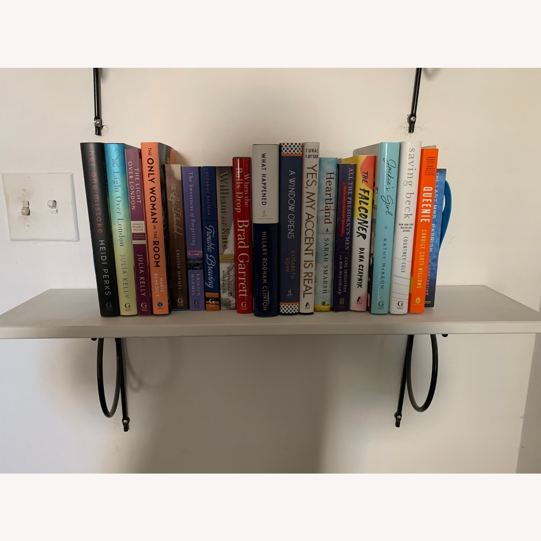 IKEA White Bookshelves with Black Hardware - image-2