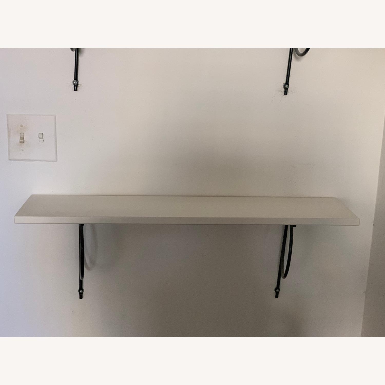IKEA White Bookshelves with Black Hardware - image-4