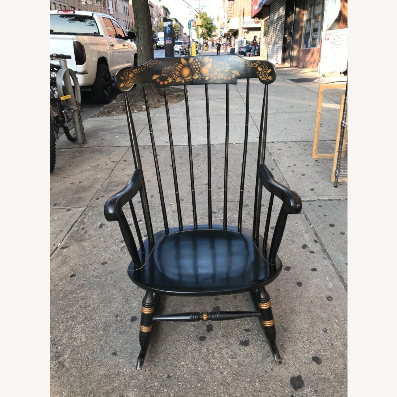 Nichols & Stone Vintage 1970s Black Rocking Chair - image-1