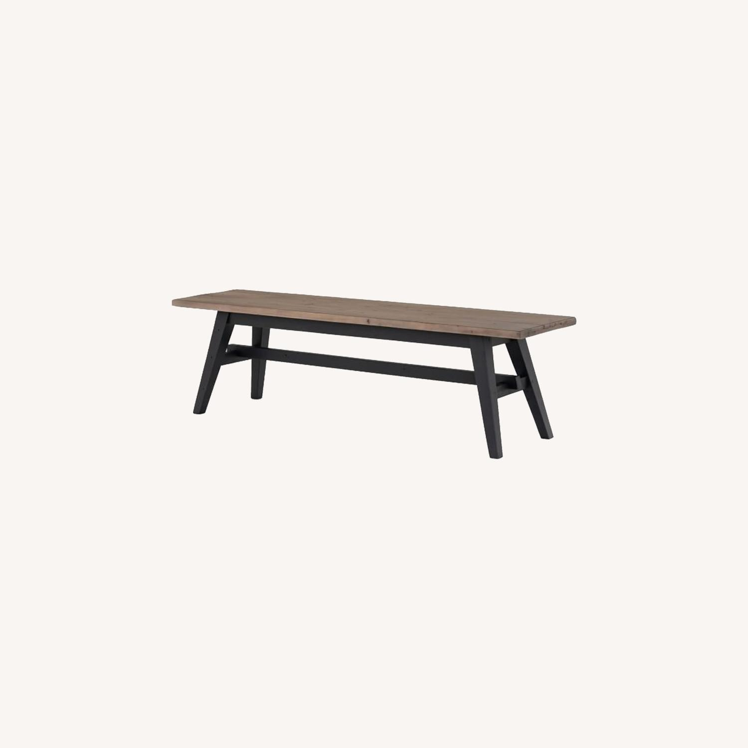West Elm Reclaimed Pine & Iron Dining Bench - image-0
