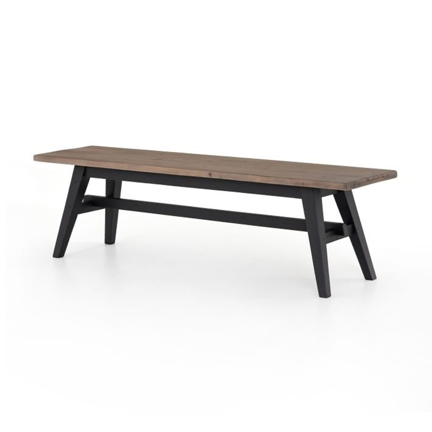 West Elm Reclaimed Pine & Iron Dining Bench - image-1