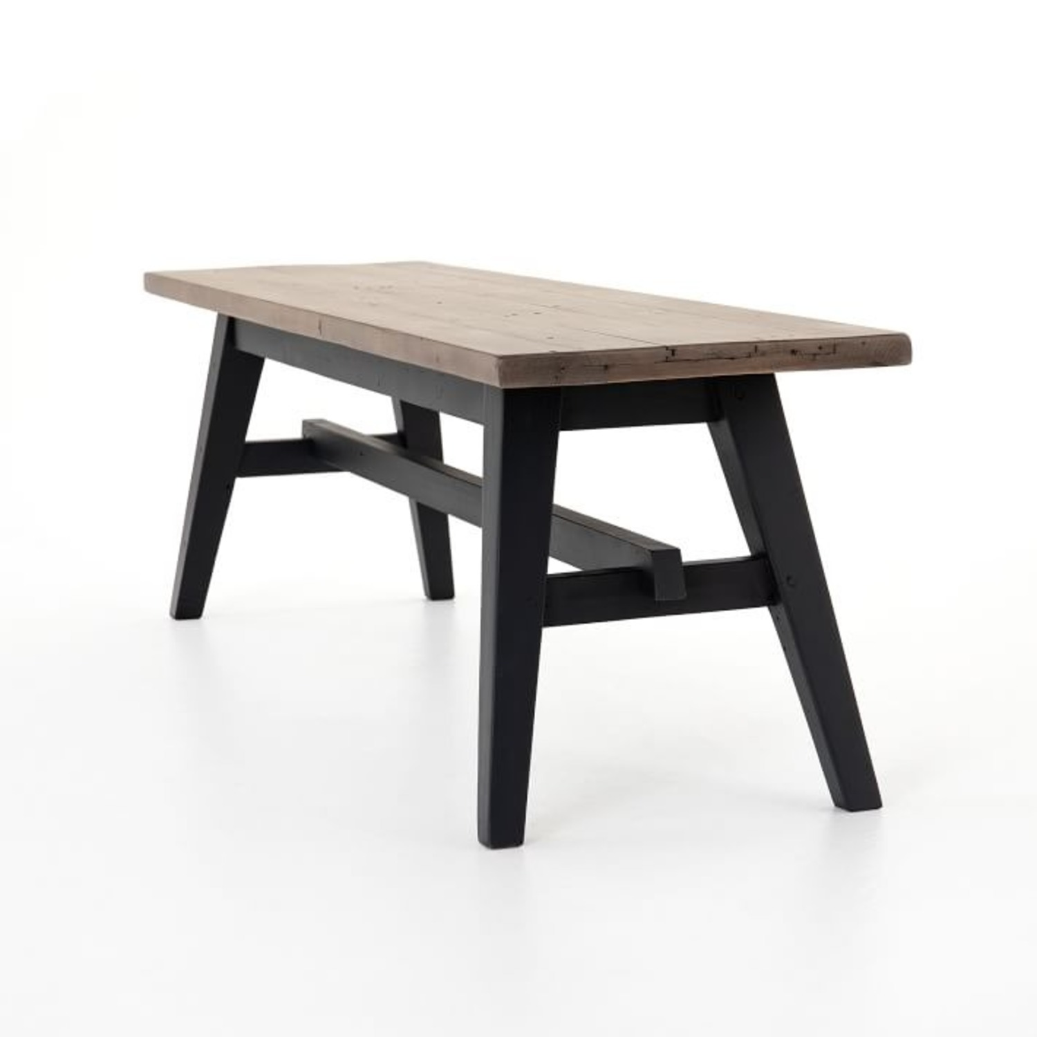 West Elm Reclaimed Pine & Iron Dining Bench - image-3