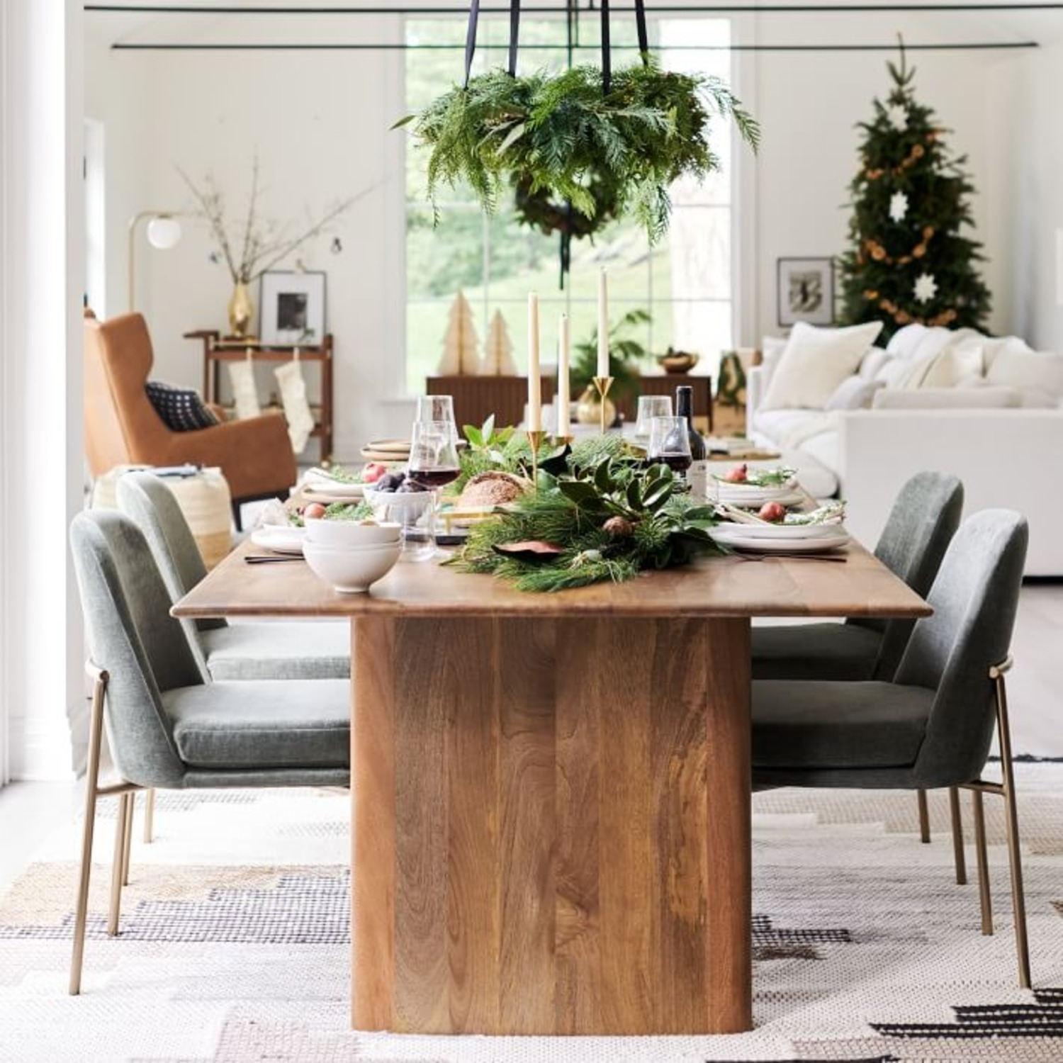 West Elm Anton Solid Wood Dining Table - image-2