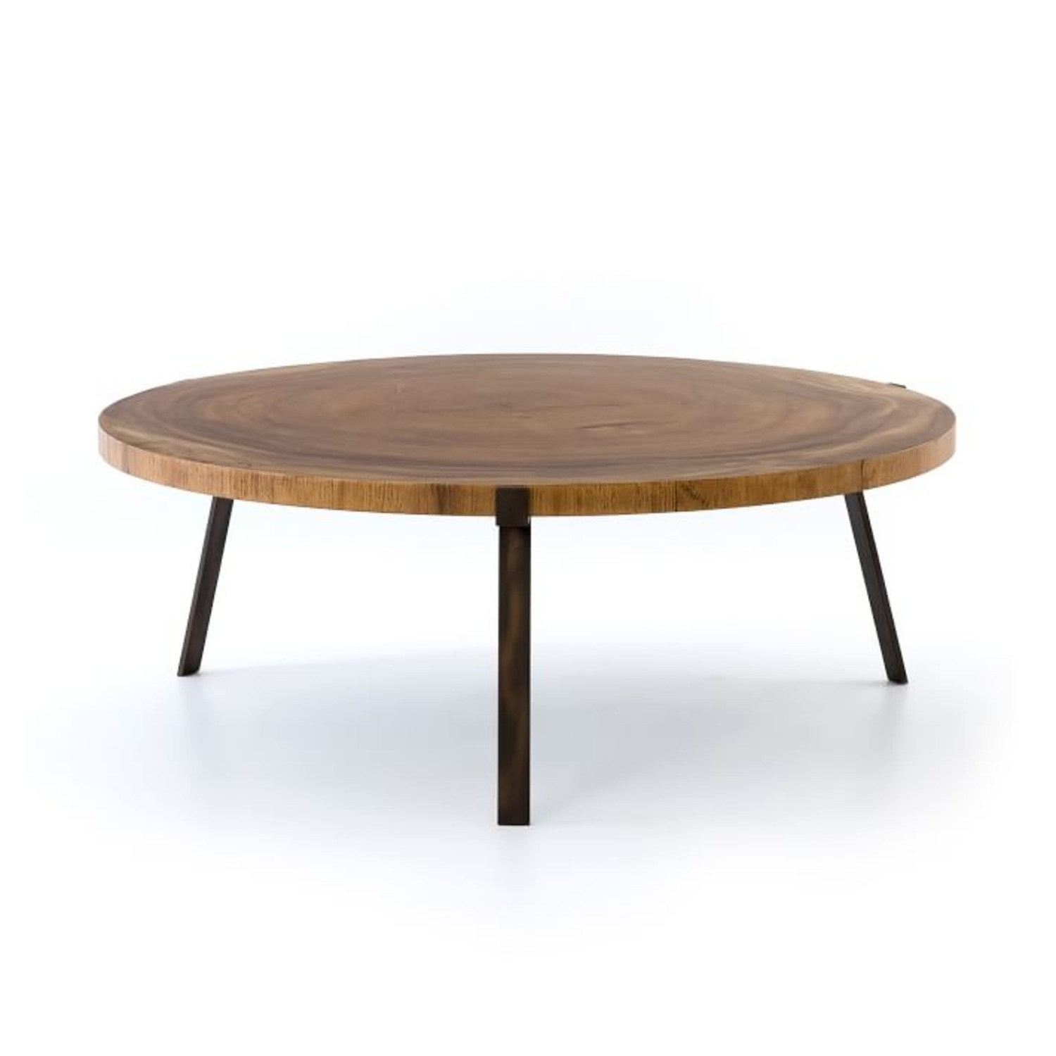 West Elm Natural Wood Round Coffee Table - image-3