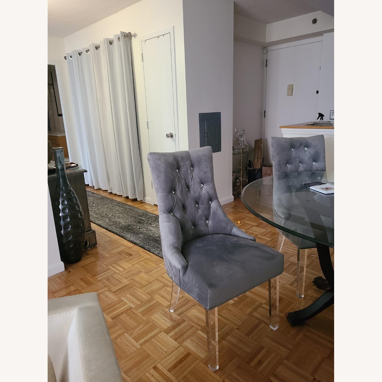 Wayfair Cavalli Crystal Studded Velvet Accent Chair - image-2