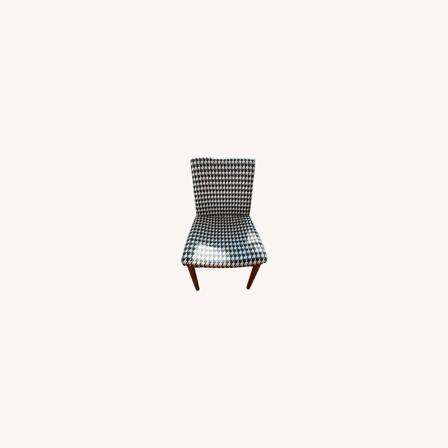 West Elm Houndstooth Customized Accent Chair - image-0