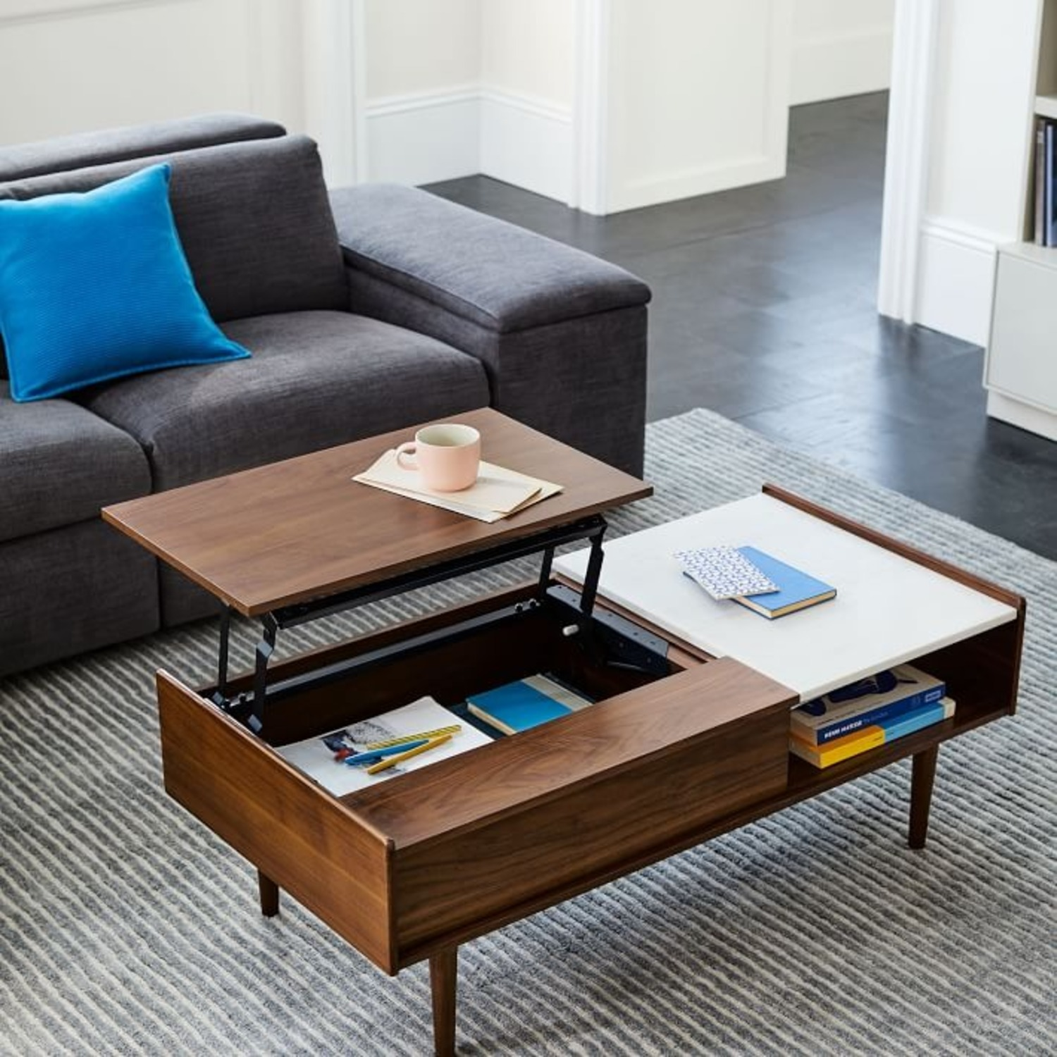 West Elm Mid Century Pop Up Coffee Table - image-2
