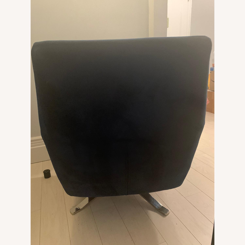 West Elm Lucas Swivel Chair in Blue - image-2