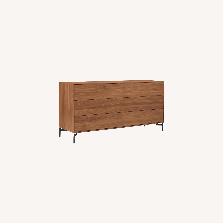 West Elm Berkley Storage 6 Drawer Dresser - image-0