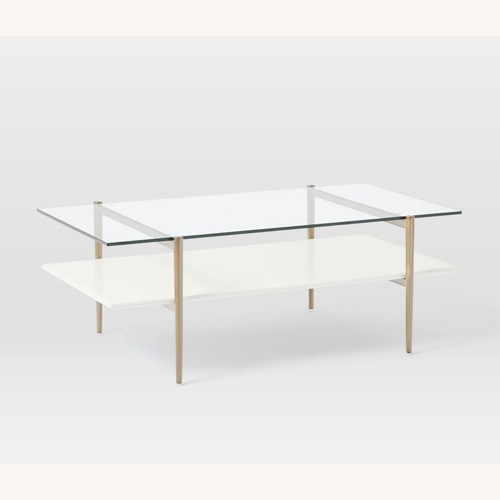 Used West Elm Art Display Coffee Table for sale on AptDeco