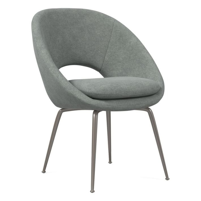 West Elm Orb Velvet Dining Chair - image-1