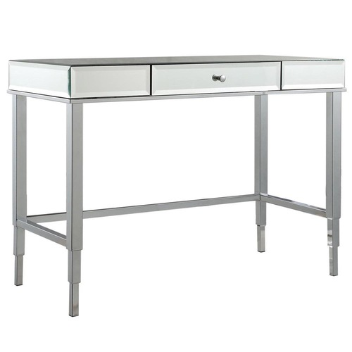 Used InspireQ Mirrored 1-drawer Office Writing Desk for sale on AptDeco
