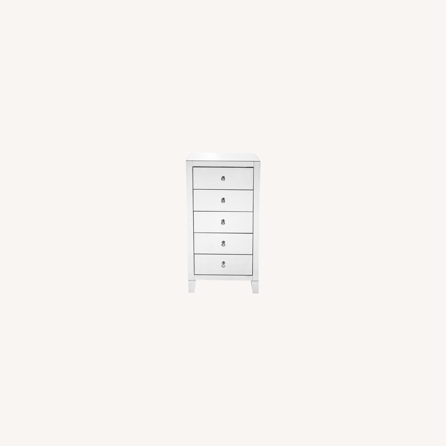 Clear Mirror 5 Drawer Lingerie Chest - image-0