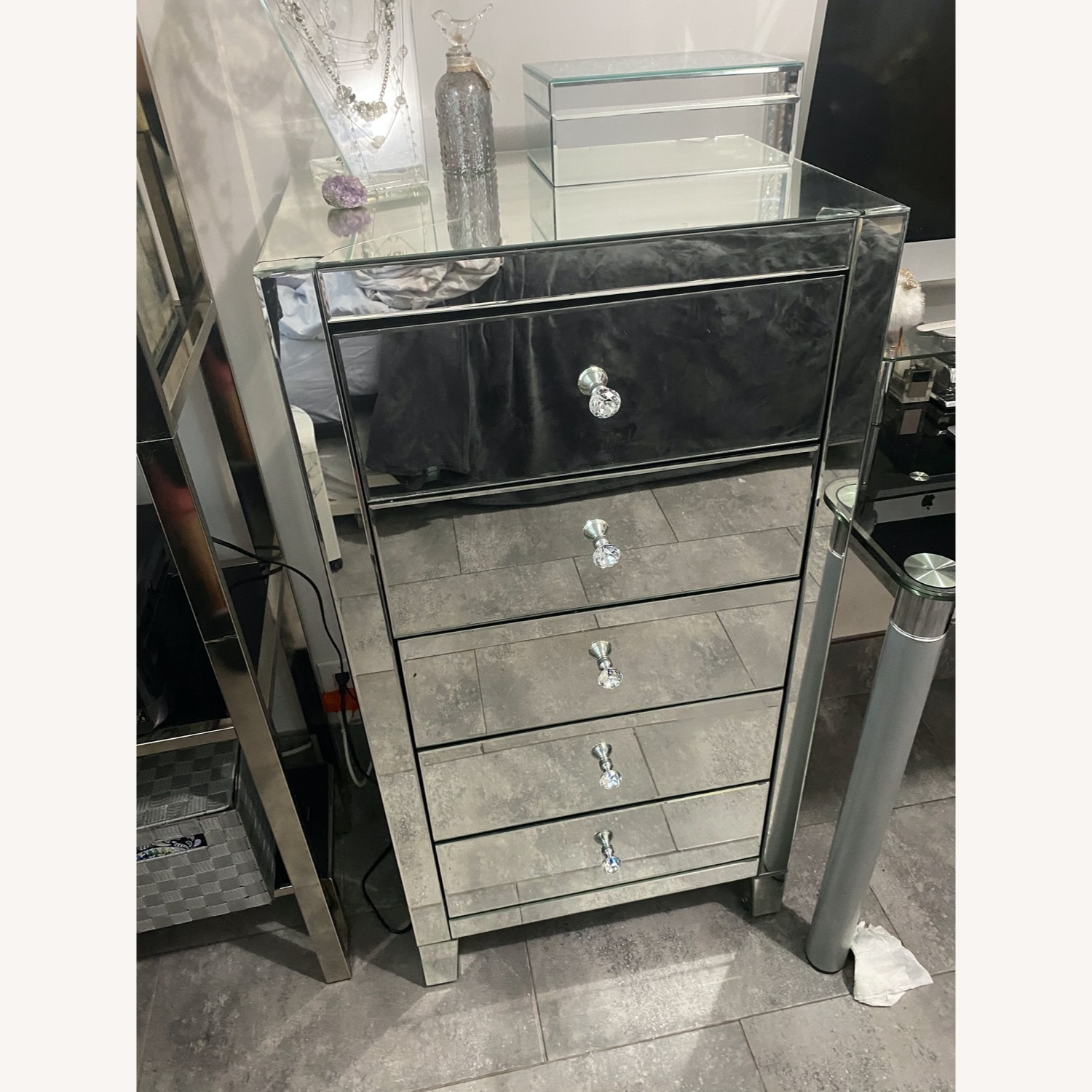 Clear Mirror 5 Drawer Lingerie Chest - image-9