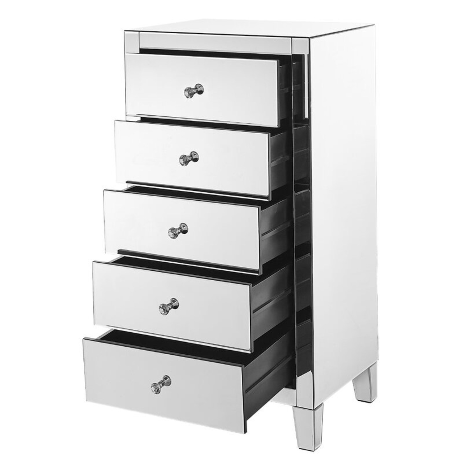 Clear Mirror 5 Drawer Lingerie Chest - image-1