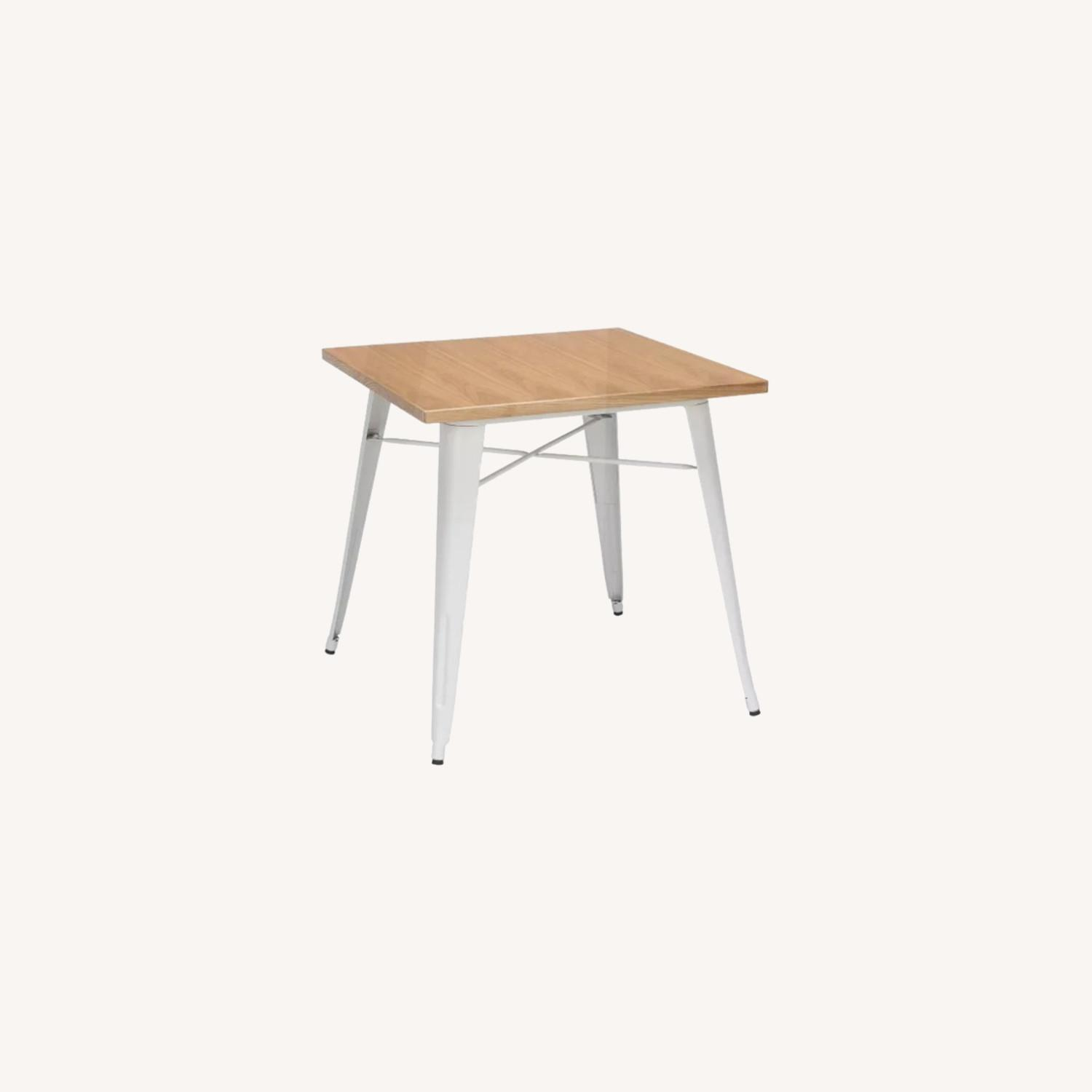 Wood and Metal Modern Square Dining Table - image-0