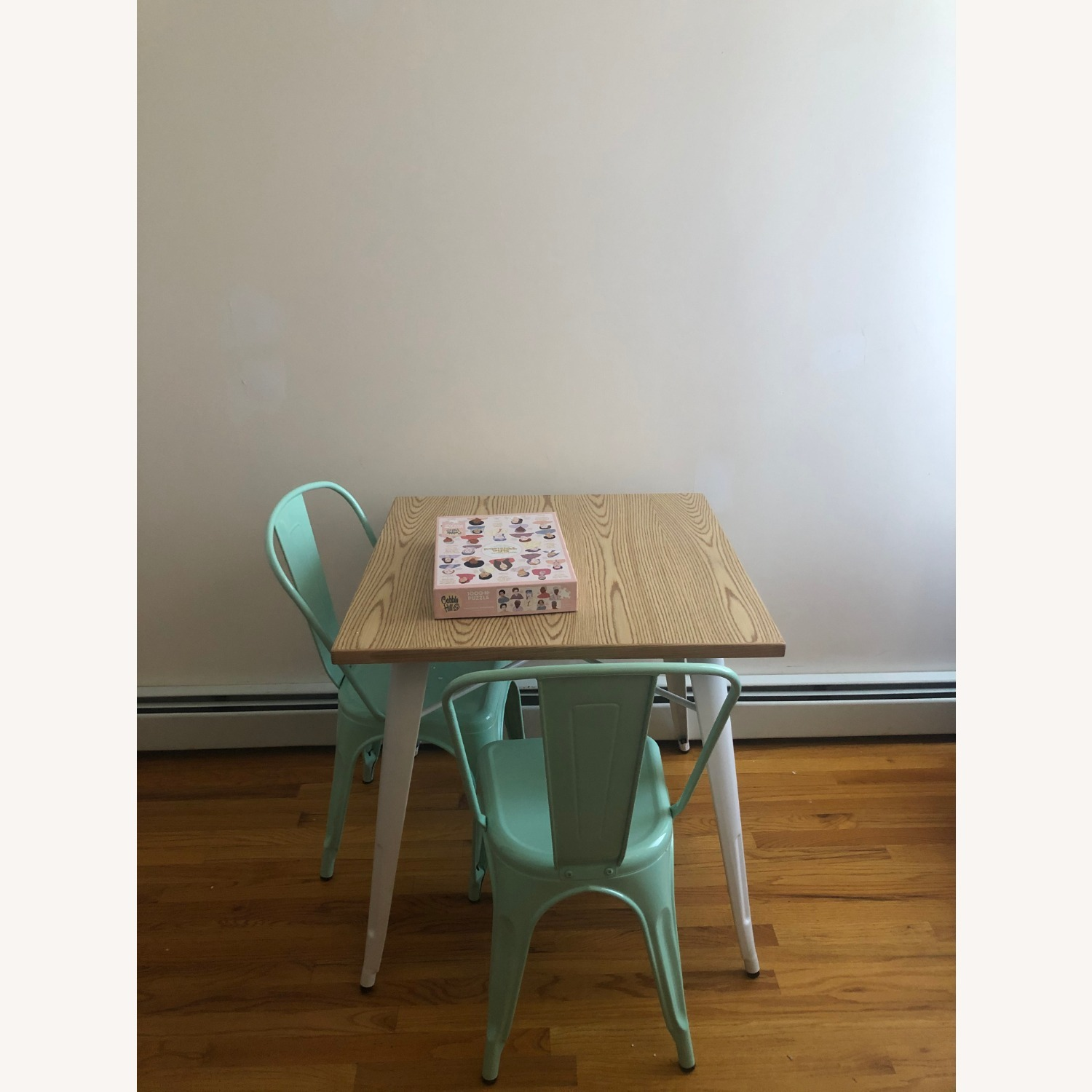 Wood and Metal Modern Square Dining Table - image-3