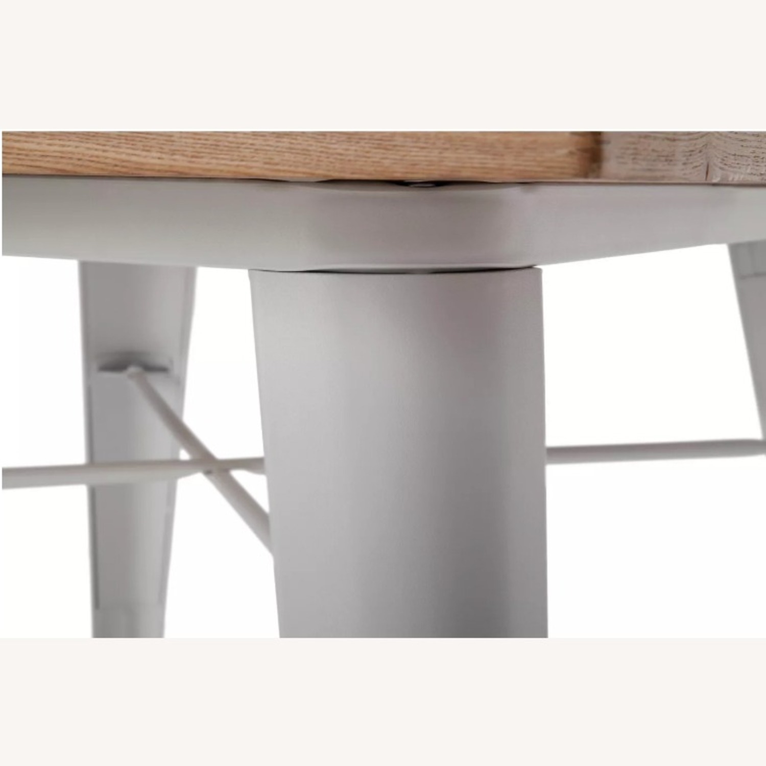 Wood and Metal Modern Square Dining Table - image-2