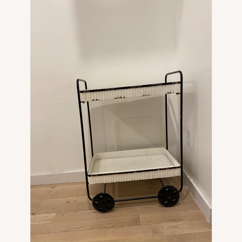 Vintage White Black Bar Cart - image-2