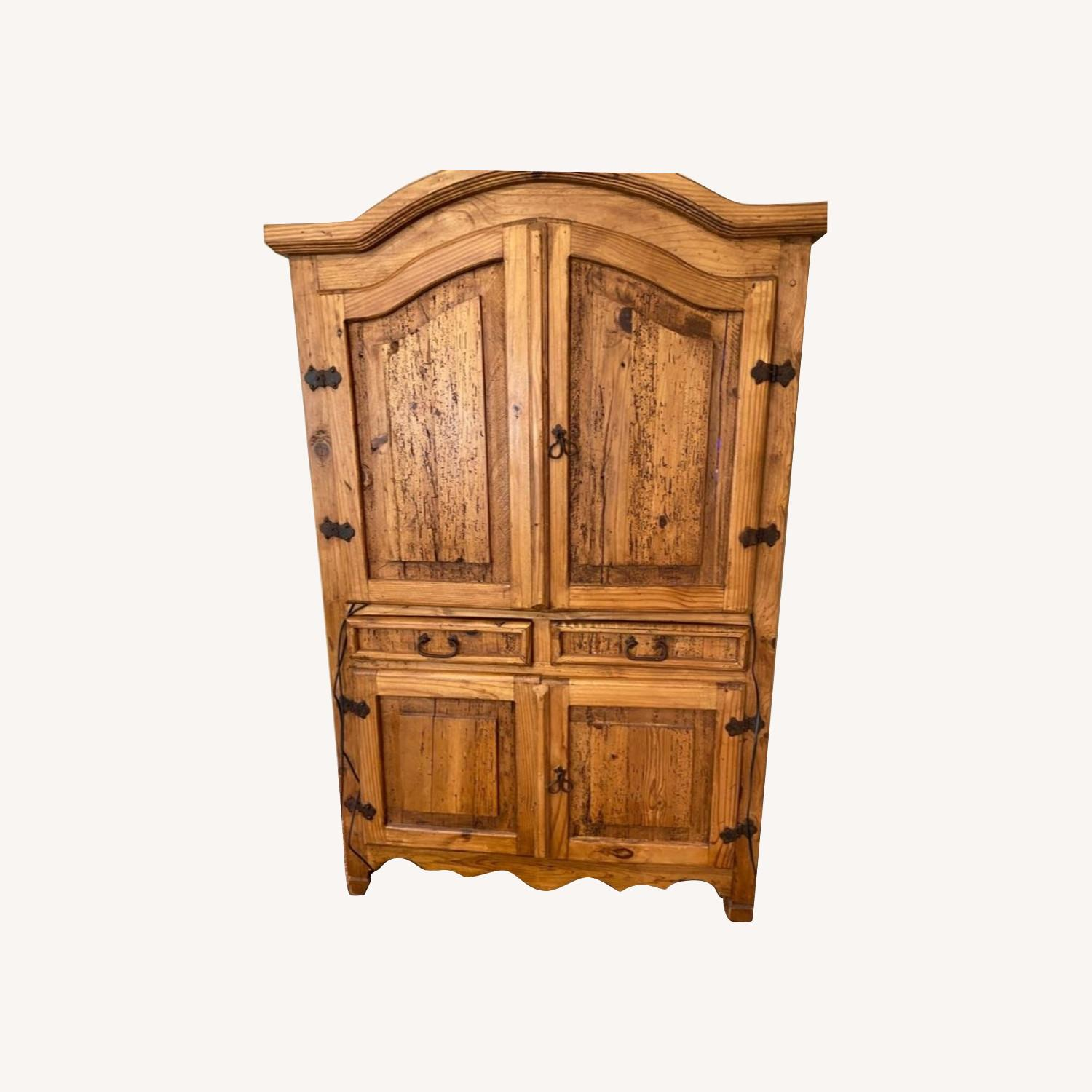 """""""Distressed Look"""" Wood Wall Unit - image-0"""