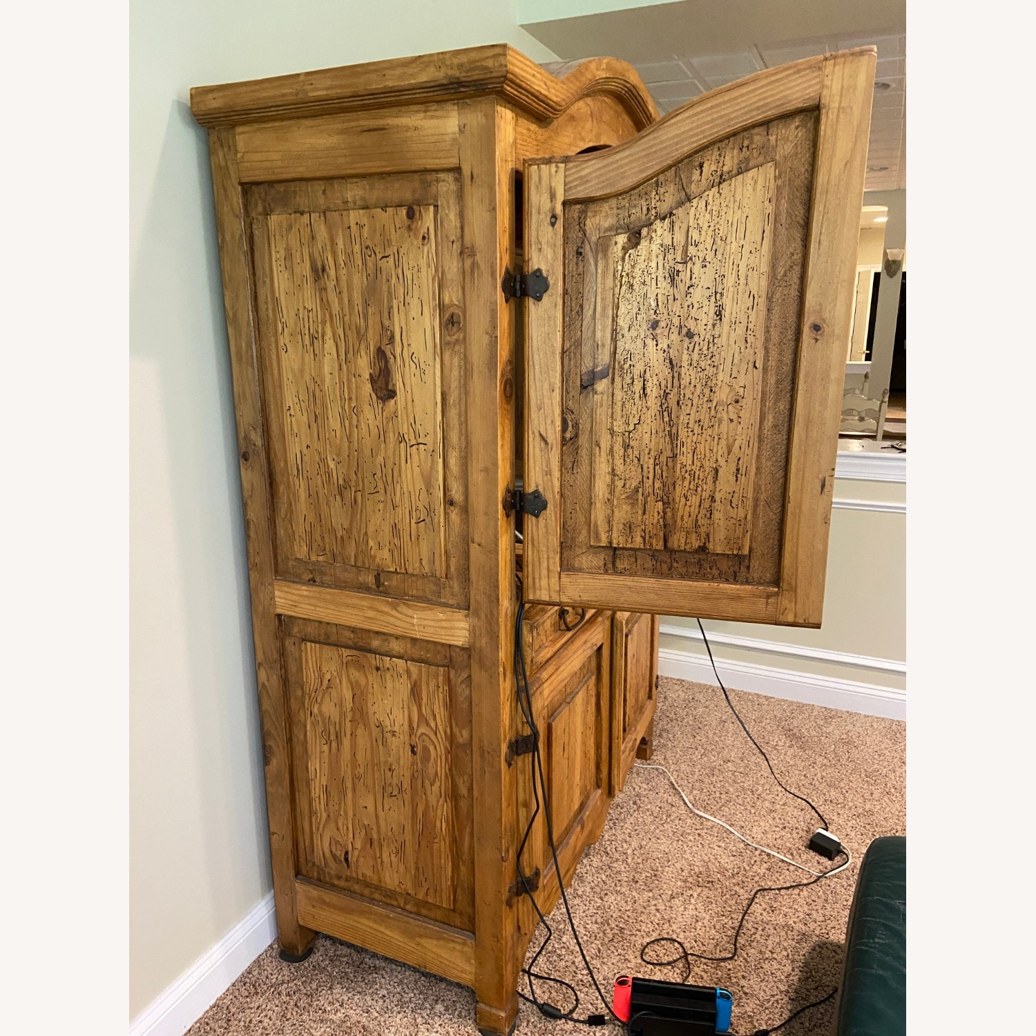 """""""Distressed Look"""" Wood Wall Unit - image-2"""
