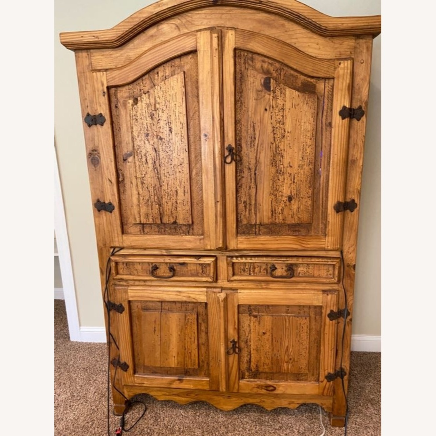 """""""Distressed Look"""" Wood Wall Unit - image-1"""