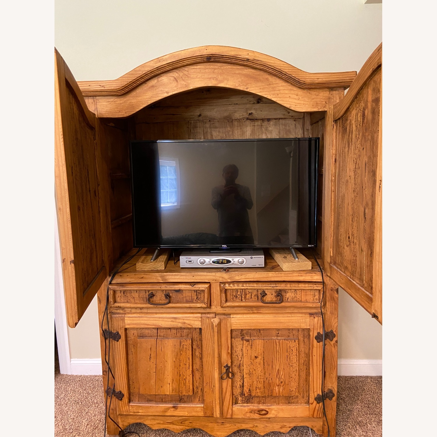 """""""Distressed Look"""" Wood Wall Unit - image-3"""