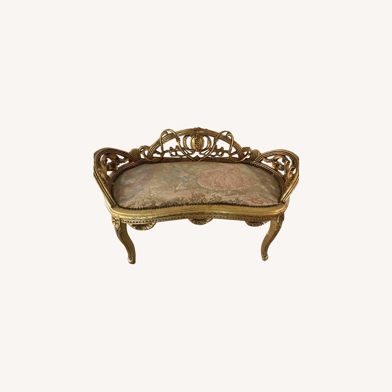 Antique Louis XV French Settee - image-0