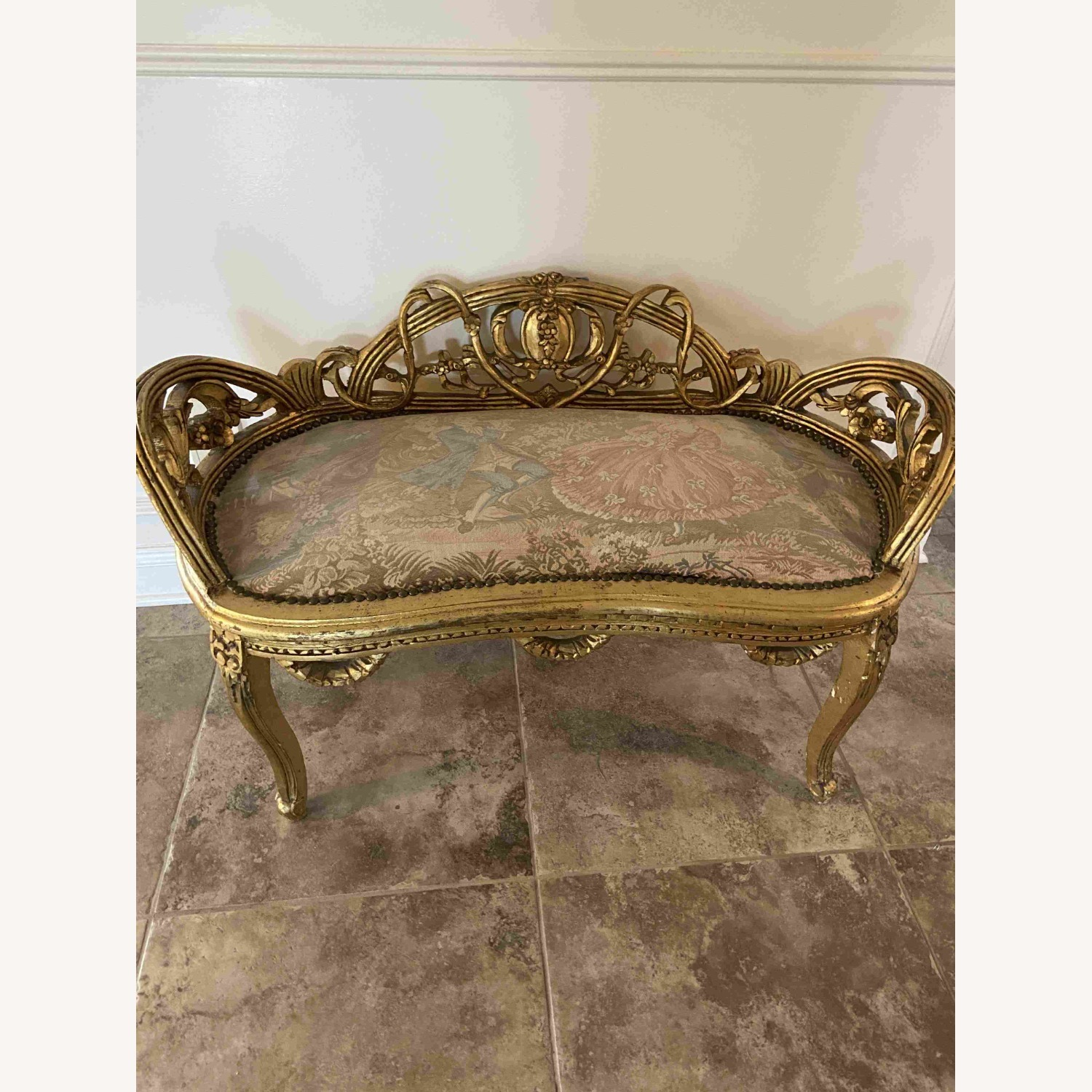 Antique Louis XV French Settee - image-1