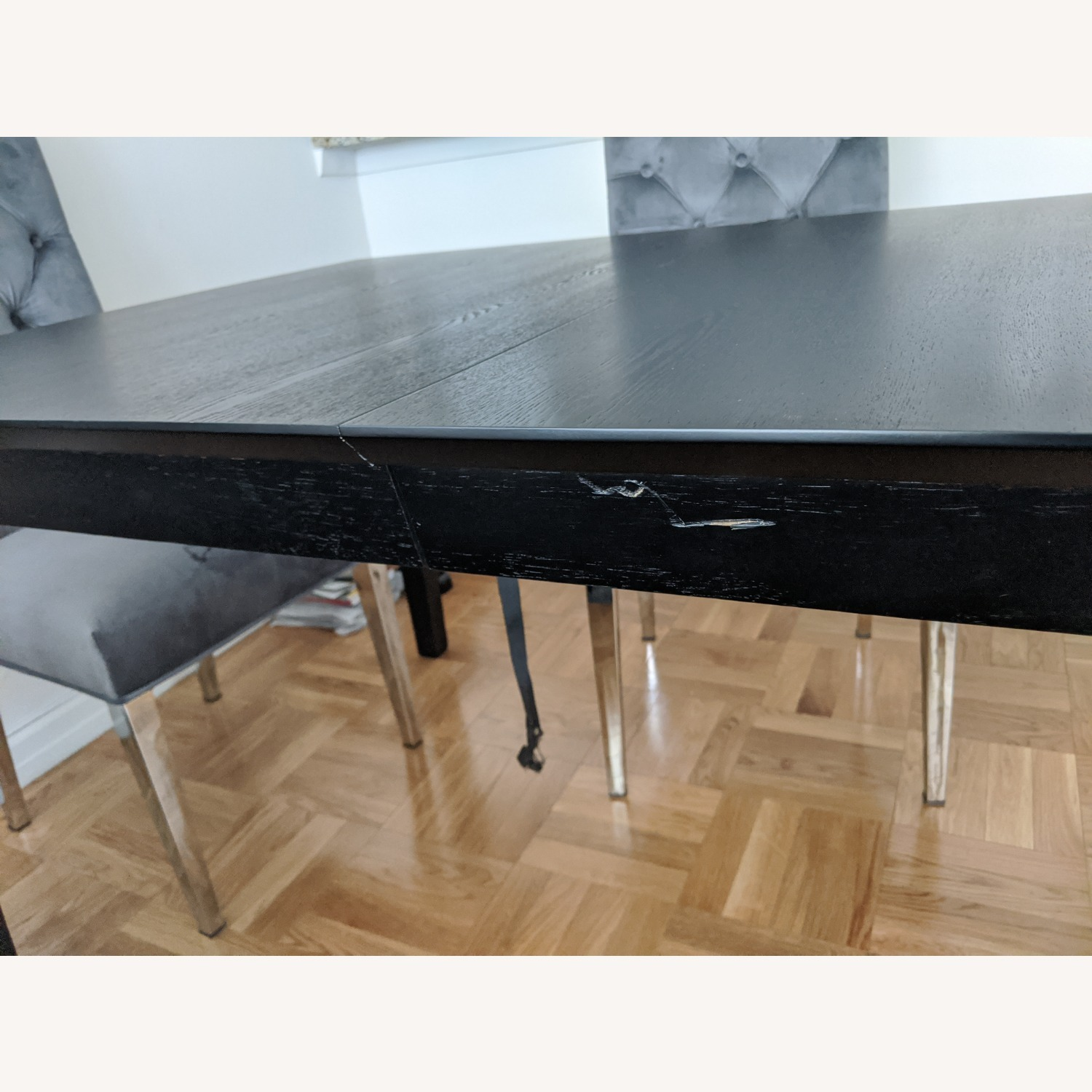 Coaster Fine Black Wood Dining Table with Expandable Leaf - image-6